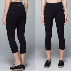 Lululemon Wunder Under Black High Crop Legging 2